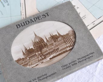 Block of souvenir cards from the city of Budapest-Hungary of the 1930s