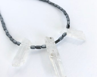 Necklace Hematite Quartz