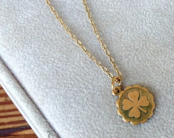 Lucky Shamrock Charm Necklace in Bronze