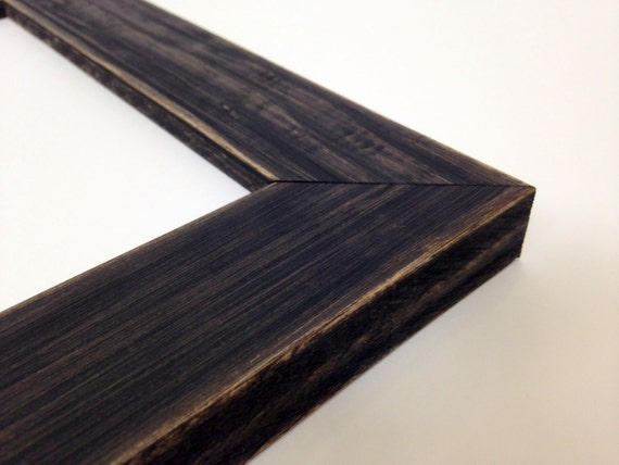 BLACK Rustic Wood Picture Frame, Reclaimed Distressed Wood - All ...