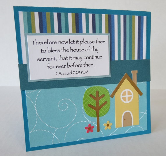 Items similar to new home christian housewarming card with scripture items similar to new home christian housewarming card with scripture on etsy m4hsunfo