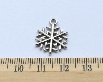 6 Snowflake Snow Charms - EF00147