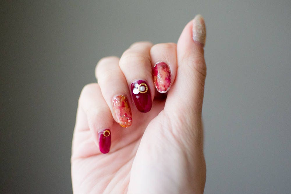 Tortoise Japanese Nails Bridal Nails Wedding Nails Press on