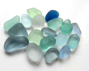 Small Soft Pastel Shades Sea Glass in Slightly Irregular Shapes