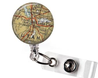 Utah Badge Holder, Doctor badge reel, Nurse badge reel, Medical badge reel, Id, ID tag, Nurse, Office, Retractable Badge, Medical ID Badge
