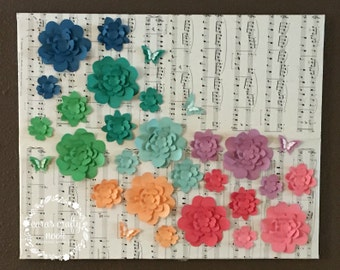Flower and Music Wall Hanging