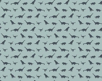 FOSSIL RIM Fabric, Fossil Tiny Dino Blue, Riley Blake, Dinosaur Quilt, Blue Fabric, Boys Quilt,  Cotton Fabric, Quilting, Fabric By the Yard