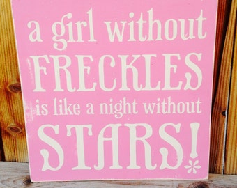 12x12 A Girl Without Freckles is