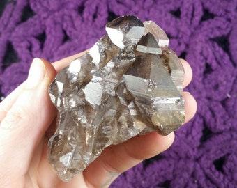 Elestial Smoky Quartz Crystal Cluster Stones Crystals Natural Multi Terminated Rare Unique Smokey Brazil phantom