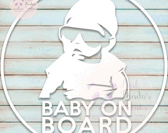 Baby on board, vinyl sticker, car, custom greeting, door sticker, vinyl decal, custom, baby shower, gift, expecting, pregnancy