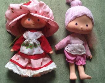 Vintage Strawberry Shortcake and Raspberry Tart Dolls