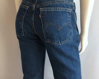 Vintage Women's 90's Levi's 517, Jeans, Boot Cut, Low Rise, Denim (M)
