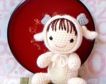 Amigurumi Pattern - Zodiac Sheep Baby - Crochet amigurumi doll tutorial PDF