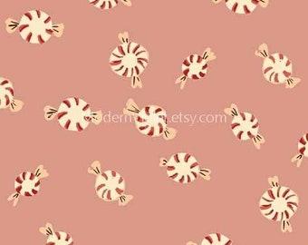 Sugarplum by Heather Ross for Windham Fabrics, Peppermint Candies on Pink 50167-6 Sugar Plum Christmas Holiday Seasonal