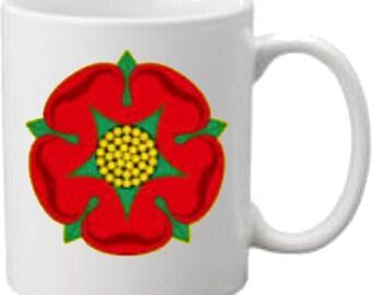 Red Rose of Lancashire Printed Mug