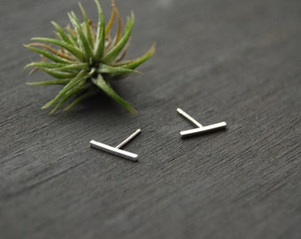 Silver Bar Earrings, Tiny Bar Earrings, Bar Earrings, Bar Studs, Tiny Bar Studs, Silver Bar Studs,