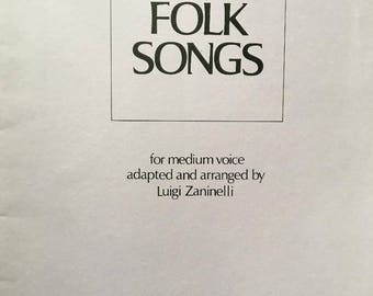 Zaninelli  Five Folk Songs, Medium Voice Folk Songs Luigi Zaninelli, Folk Songs, The Water is Wide, I Know Where I'm Goin', Vocal Music