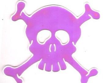 Skull \/ Pink- Window Art