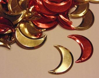 20 vintage assorted moon sequins, 20 x 8 mm (4)