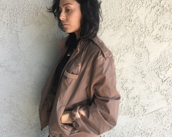 Brown Members Only jacket