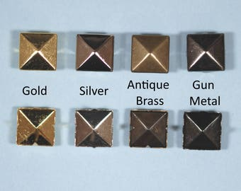 10mm Pyramid Studs for Metalcraft, Leatherwork, Shoes, Bags, Jean,Clothes, Jewellery Findings