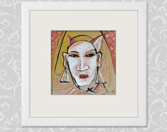Devilish Diva Nun 20/20 cm image portrait, abstract