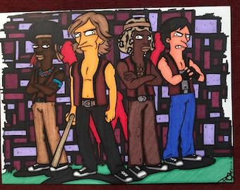 The Warriors Marker Print ~ 9 in x 12 in