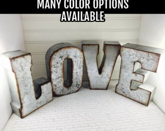 SALE Large Metal Letter A-Z/ Metal Letters/ 7 inch letter/You pick Metal Letter/Wedding Decor/Rustic/ Initials/Wall Letter/ Shelf/Industrial