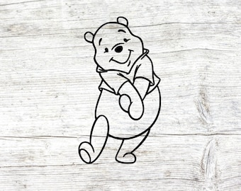 Disney's Winnie the pooh svg, winnie the pooh clipart, dxf, png, pooh svg, winnie the pooh outline svg