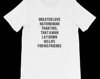 Christian TShirts Women's Jesus Shirt Cute Christian Shirt men/ Women's Clothing  T-shirts  Bible shirt  Christian gift  Scripture shirt