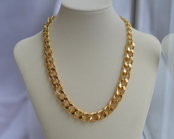 Chunky Gold Chain Necklace Gold Chain Link Necklace Large