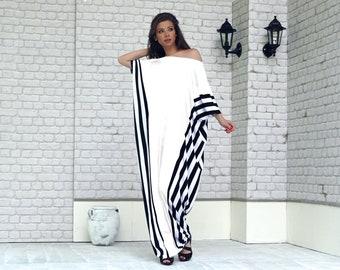 White Summer Dress, Plus Size Maxi Dress, Kaftan Maxi Dress, Plus Size Clothing, Long Dress, Caftan Dress, Kaftan Dress, Asymmetrical Dress