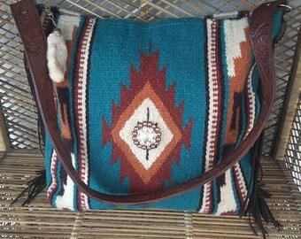 Saddleblanket purse custom open listing