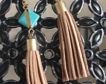 ORO pendant tassel gold earrings