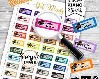 Piano Lesson Stickers, Printable Stickers, Piano Planner Stickers, Stickers For Planners, Decorating Planner Stickers, Music Planner Sticker