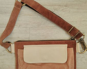 Fanny Pack, Suede women's belt bag, Leather Fanny Pack, Waist Bag, Belt Bag, Hip Bag, Brown leather belt bag, Leather Waist Bag,Modern bag