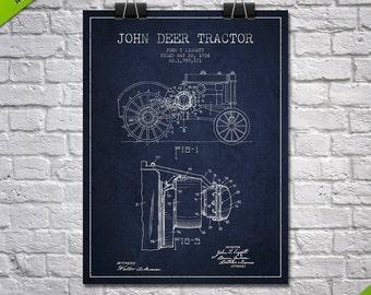 1934 John Deer Tractor Patent Poster, Patent Art Print, Patent Print, Blueprint, Wall Art, Home Decor, Gift Idea