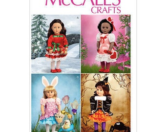 McCalls 6805- Sewing pattern for 18 Inch Doll Clothes- Fits American Girl Dolls-