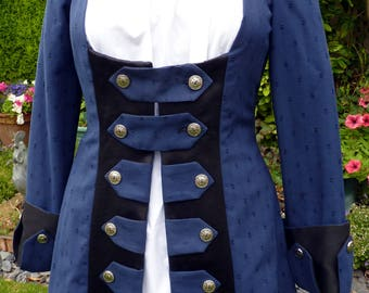 Ladies Pirate Coat,Pirate Wench,Jack Sparrow,Captain Hook,