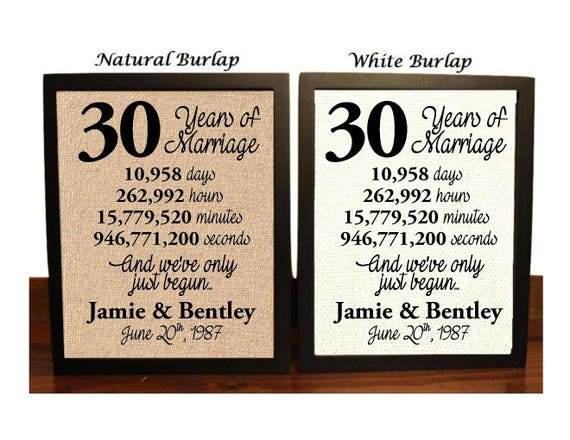 Gift For 30 Wedding Anniversary: 30th Wedding Anniversary 30 Year Wedding Anniversary 30th