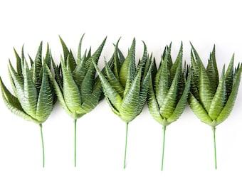 Fake Succulents - ONE Green Aloe Cactus Succulent - faux succulent, fake aloe, artificial flowers, artificial succulents - ITEM 01005