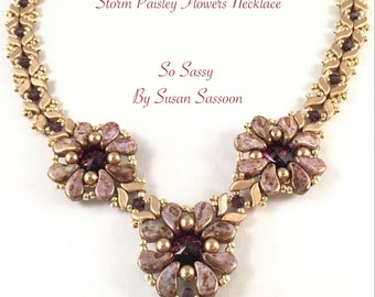 Storm Paisley Flower Necklace Tutorial