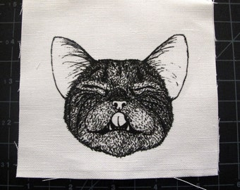 Close-eyed Cat Patch