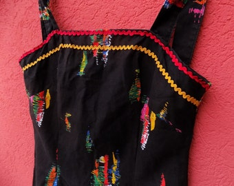 Indian Summer - Hippie Vintage Dress, Colorful Dress from 70's