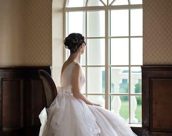Wedding dress, bohemian wedding dress, tulle bridal gown, unique wedding dress, boho wedding dress, volumetric tulle wedding dress - Gaia