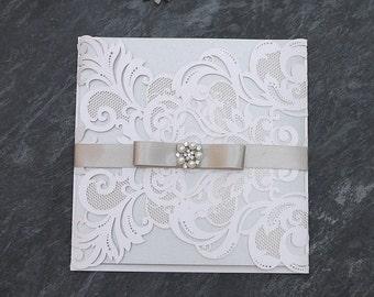 Laser Cut Wedding Invitation, Luxury Wedding Invitation