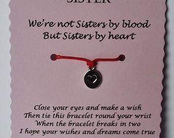 Friend Gift, Friend Wish Bracelet, Charm bracelet, Friendship Bracelet,  BFF Bracelet, Friend Jewelry, Gift Friend, Friends Gifts