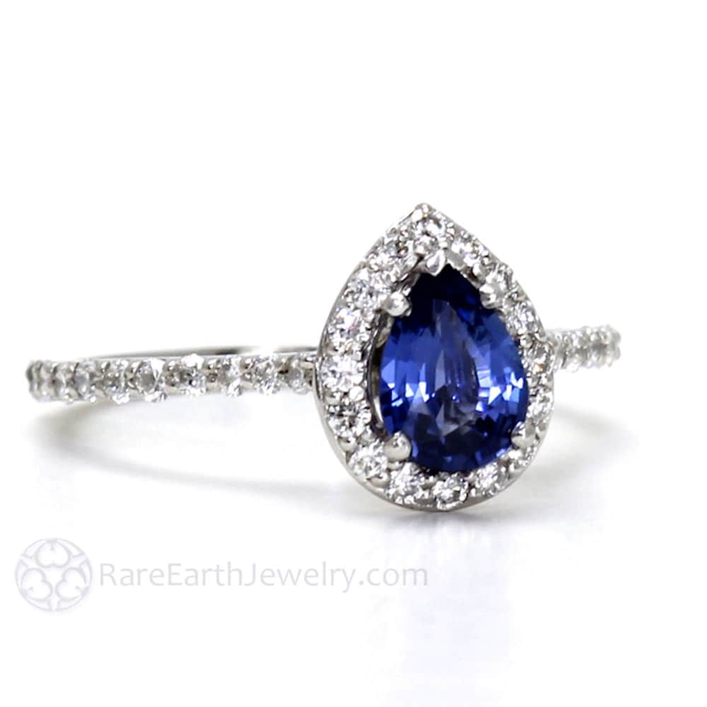 engagement il rings blue anniversary diamond bridal sapphire ring white gold band fullxfull plain