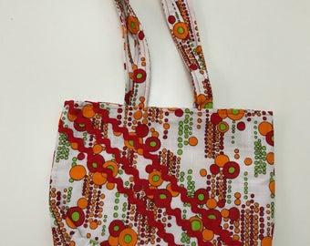 Red and orange retro bag