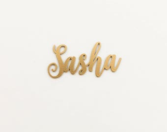 """12""""- 1/8"""" Thick Laser Cut Name Sign / Custom Wood Name / Wall Sign / Nursery Name Sign / Baby Decor / Wedding Name Sign"""
